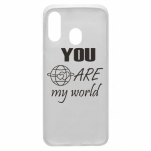 Phone case for Samsung A40 You are my world Earth