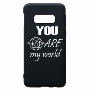 Phone case for Samsung S10e You are my world Earth