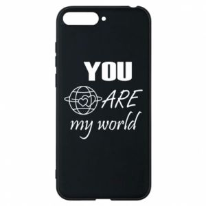 Etui na Huawei Y6 2018 You are my world Earth