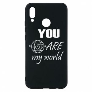 Phone case for Huawei P20 Lite You are my world Earth