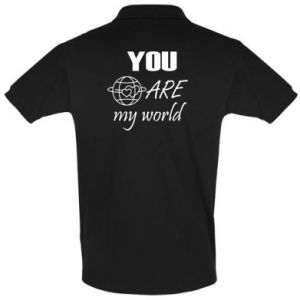 Men's Polo shirt You are my world Earth