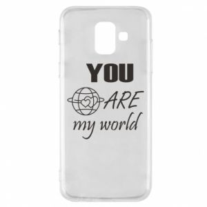 Phone case for Samsung A6 2018 You are my world Earth