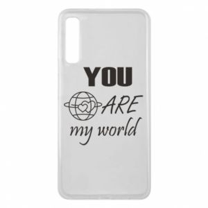 Phone case for Samsung A7 2018 You are my world Earth