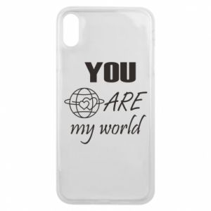 Etui na iPhone Xs Max You are my world Earth