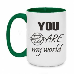 Kubek dwukolorowy 450ml You are my world Earth
