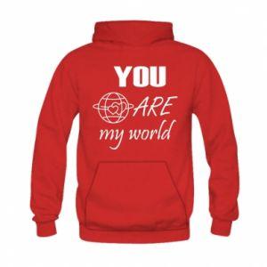 Bluza z kapturem dziecięca You are my world Earth