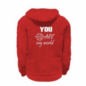 Bluza na zamek dziecięca You are my world Earth