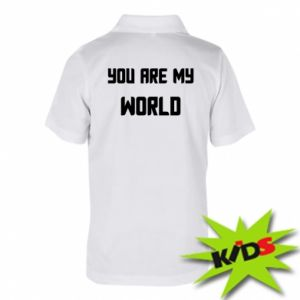 Koszulka polo dziecięca You are my world