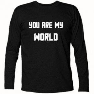 Koszulka z długim rękawem You are my world