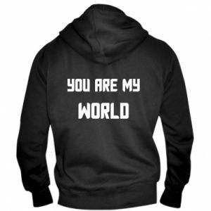 Męska bluza z kapturem na zamek You are my world