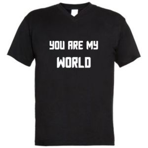 Męska koszulka V-neck You are my world
