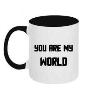Kubek dwukolorowy You are my world