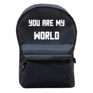 Backpack with front pocket You are my world