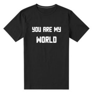 Męska premium koszulka You are my world
