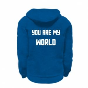 Kid's zipped hoodie % print% You are my world