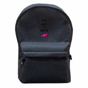 Plecak z przednią kieszenią You are so sweet - PrintSalon