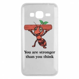 Etui na Samsung J3 2016 You are stronger than you think