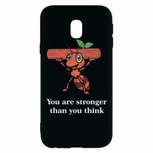 Etui na Samsung J3 2017 You are stronger than you think