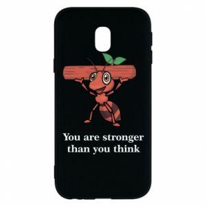 Etui na Samsung J3 2017 You are stronger than you think - PrintSalon