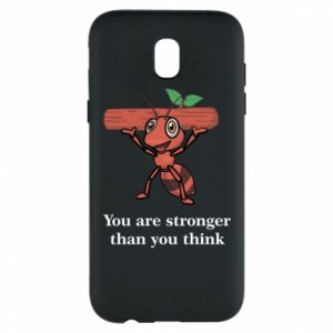 Etui na Samsung J5 2017 You are stronger than you think - PrintSalon