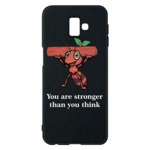 Etui na Samsung J6 Plus 2018 You are stronger than you think - PrintSalon