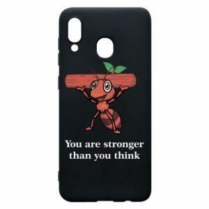 Etui na Samsung A20 You are stronger than you think - PrintSalon