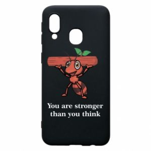 Etui na Samsung A40 You are stronger than you think - PrintSalon
