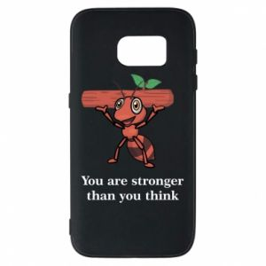 Etui na Samsung S7 You are stronger than you think - PrintSalon