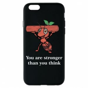 Etui na iPhone 6/6S You are stronger than you think - PrintSalon
