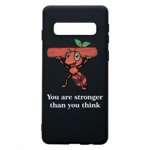 Etui na Samsung S10 You are stronger than you think - PrintSalon