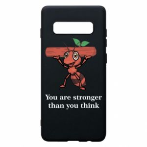 Etui na Samsung S10+ You are stronger than you think - PrintSalon