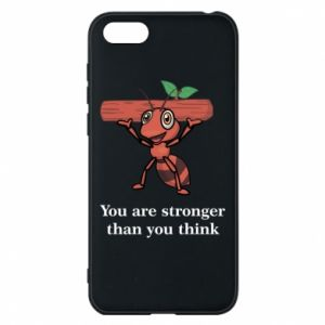 Etui na Huawei Y5 2018 You are stronger than you think - PrintSalon