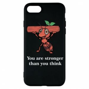 Etui na iPhone 7 You are stronger than you think - PrintSalon