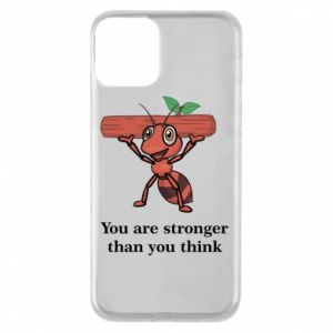 Etui na iPhone 11 You are stronger than you think - PrintSalon