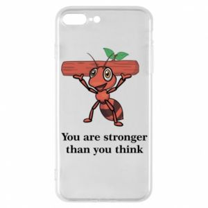 Etui na iPhone 7 Plus You are stronger than you think - PrintSalon