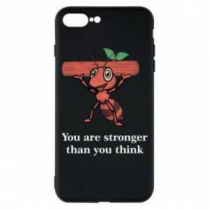Etui na iPhone 8 Plus You are stronger than you think - PrintSalon
