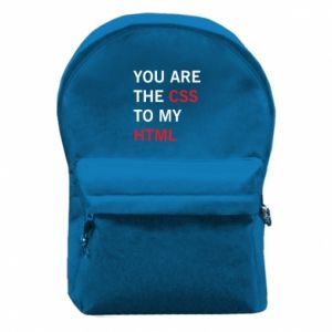 Backpack with front pocket You are the css