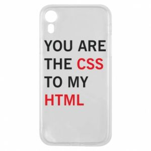Etui na iPhone XR You are the css - PrintSalon