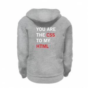 Kid's zipped hoodie % print% You are the css