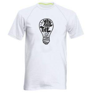 Koszulka sportowa męska You are the light
