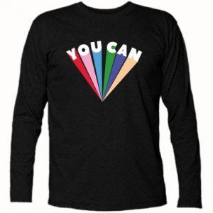 Koszulka z długim rękawem You can
