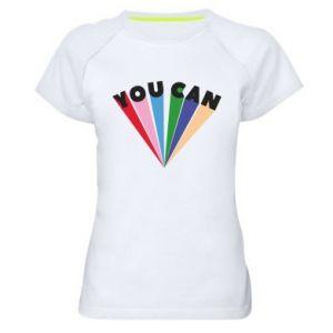 Damska koszulka sportowa You can
