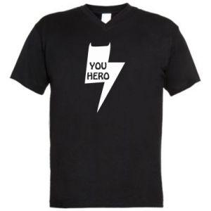 Męska koszulka V-neck You hero