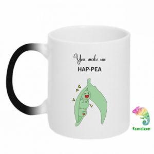 Kubek-kameleon You make me hap-pea