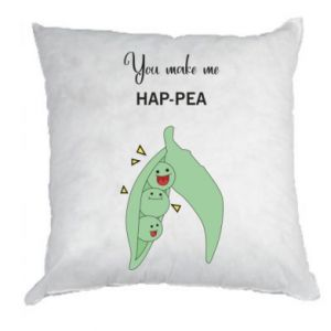Poduszka You make me hap-pea