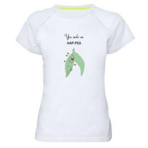 Damska koszulka sportowa You make me hap-pea