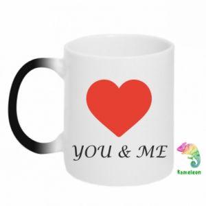 Kubek-kameleon You & me