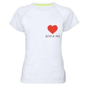 Koszulka sportowa damska You & me