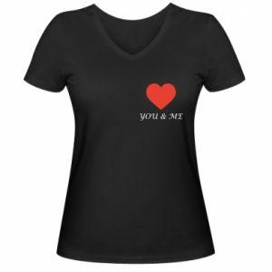 Damska koszulka V-neck You & me