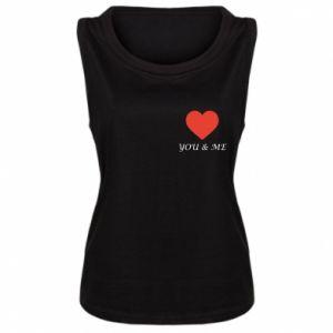 Damska koszulka bez rękawów You & me